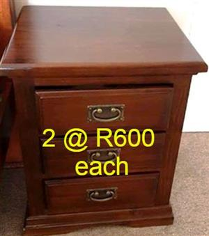 2x wooden chest of drawers for sale