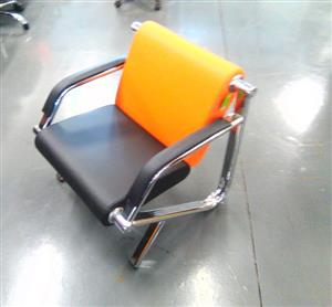 single seater orange and black