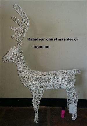 Raindeer christmas decor