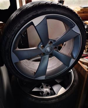 20 Inch Rotor rims with Tyres