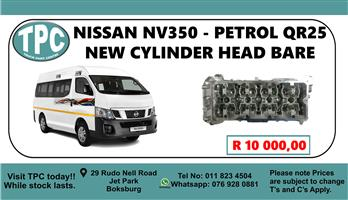 Nissan NV350 - Petrol QR25 New Cylinder Head Bare - For Sale at TPC.