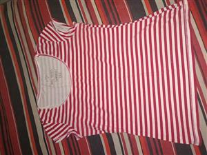 Red striped summer shirt