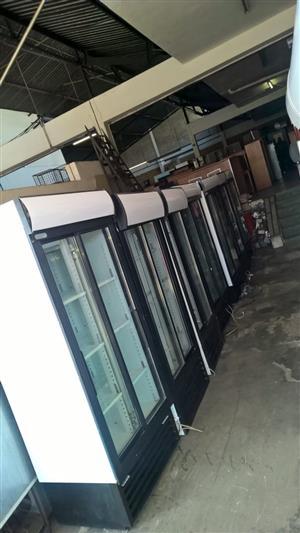 We sell Display Fridges 890, 1140, 1230, 1360 x2020mm and Triple Door Fridge.