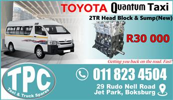 Toyota Quantum 2TR Head Block & Sump - New - Quality Replacement Taxi Spare Parts.