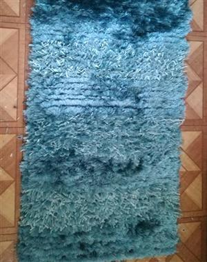 Blue furry carpet for sale