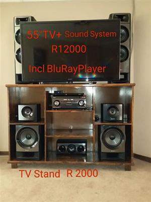 TV and sound system for sale