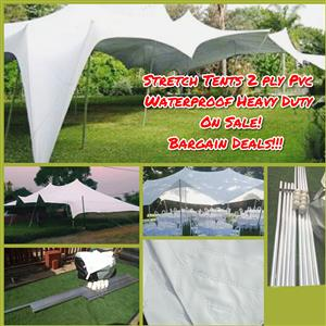 Waterproof Stretch Tents 2ply PVC Easter Sale