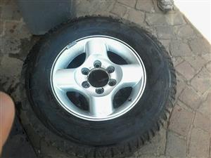 Tyre met rim