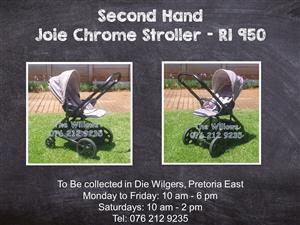 Second Hand Joie Chrome Stroller