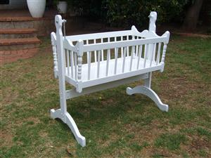 Handmade Swinging Moses Cradle