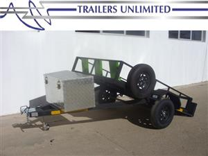 TRAILERS UNLIMITED. QUAD BIKE TRAILER. BRAKE NECK.