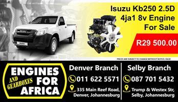 Isuzu Kb250 2.5D 4ja1 8v Engine For Sale