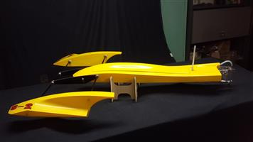 RC Trident Brushless Outrigger Boat