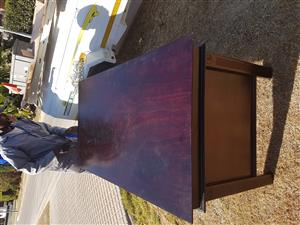 2 x Mahogany Office Tables and 4 x Chairs