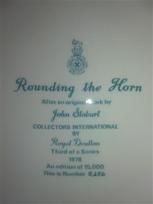 Rounding the Horn- Royal Doulton Collector Plate 1978