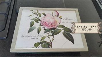 Pink rose eating tray