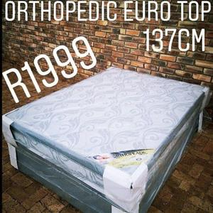 Orthopedic Euro Top Double Bed and Base