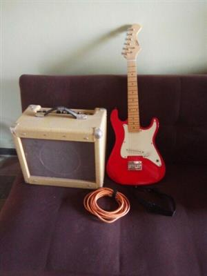 ELECTRIC GUITAR WITH 25W AMP