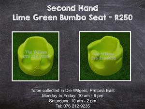 Second Hand Lime Green Bumbo Seat