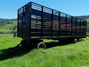 BRIAB 3 Axle Drawbar Cattle + Sheep Trailer - R209 000 excl VAT