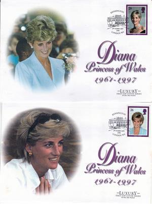 Princess Diana Stamps And Envelopes