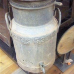 Vintage SA Railway water/milk can