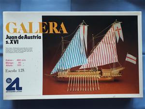 VINTAGE WOOD MODEL SHIP KIT - ARTESANIA LATINA GALERA JUAN DE AUSTRIA S.XVI 1:75