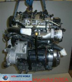 Imported used  HYUNDAI ACCENT/GETZ 1.5 CRD, D3EA engines. Complete second hand used engine