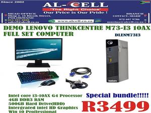 Demo Lenovo Thinkcentre M73-I3 10AX Full Set Computer
