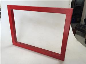 Red metal frames for possible art installation - Price per frame