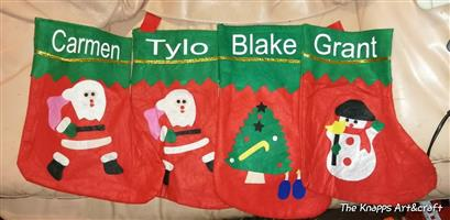 Christmas socks r50 each with name on