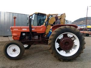 Orange Fiat 650 48kW 2x4 Pre-Owned Tractor