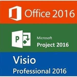 Microsoft visio 2016 & project 2016