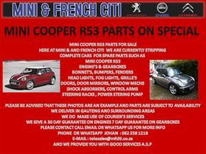 MINI COOPER R53  PARTS ON SALE !! NOW !!