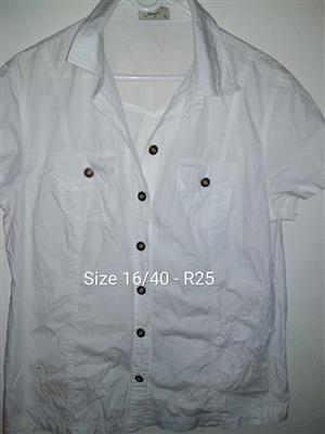 Size 40 white button shirt
