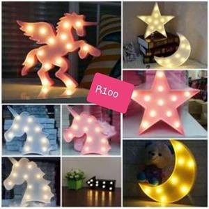 Moon, star and unicorn lights for sale