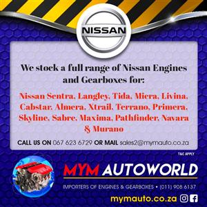 Used second hand NISSAN ENGINE FOR SALE