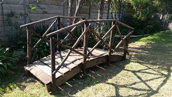 Garden bridge Sold wood construction