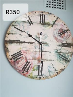 Floral wall clock for sale