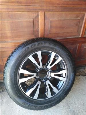 One Latest Isuzu KB X Rider 18 inch Spare Wheel with 90% tread Tyre R3900