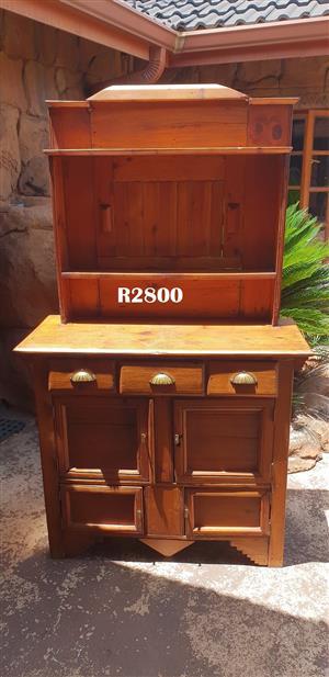 Antique Oregon Pine Kitchen Cabinet Dresser (1080x465x1850