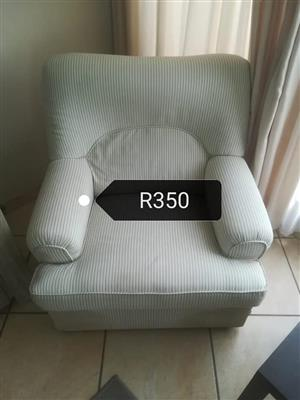 1 Seater white couch