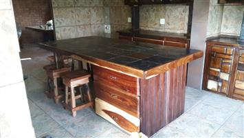 Kitchen furniture and tables - Sleeper wood