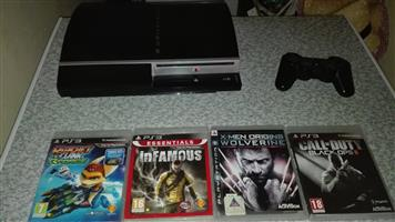 Ps3 with 1 controller and  games