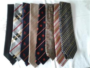 Ties, Shirts, Trousers, shoes etc.