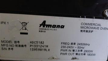 AMANA HDC5182 Heavy duty Commercial Microwave Oven