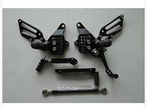 CNC Adjustable Rearsets for DUCATI 749 999 748 916 996 998 black.