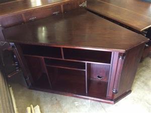 Solid wood corner TV stand/cabinet