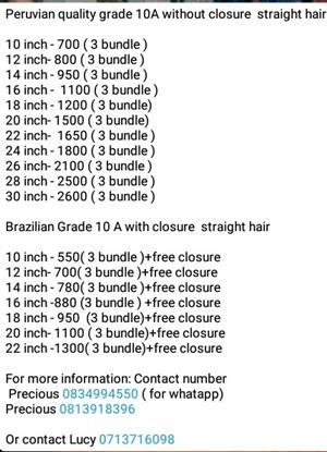 Massive Sale Brazillian and Peruvian Hair | Junk Mail