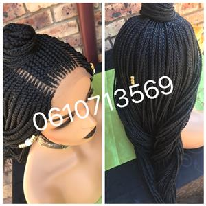 Cornrow lace front wigs and more